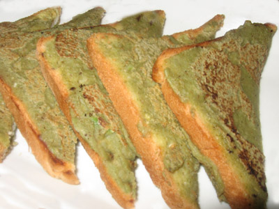 Moong dal bread chilla recipe,Sweet bread chilla dish