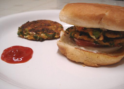 Vegetable patties,Veggie Burger Cutlet