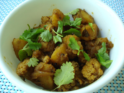 Aloo gobi, Potato Cauliflower fry