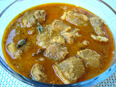 Mutton Curry, Lamb or Goat curry in Tamilnadu style