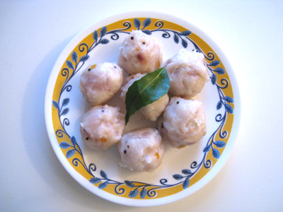 Uppu Urundai, Rice Dumplings, Seasoned Rice Balls
