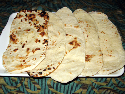 Naan North Indian thanthuri bread recipe