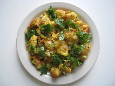 Egg upma, Bread upma