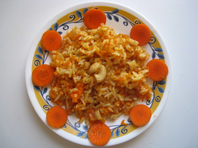 Carrot Rice, Carrot Pulao