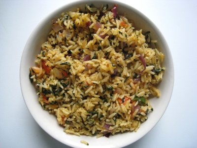 Methi Pulav, Fenugreek leaves Rice, Vendhya keerai Saatham