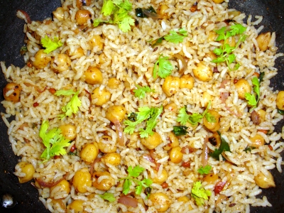 Chick Peas Rice Konda Kadalai Sadham Garbanzo beans kudu Channa rice Recipe