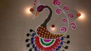 new year Peacock rangoli