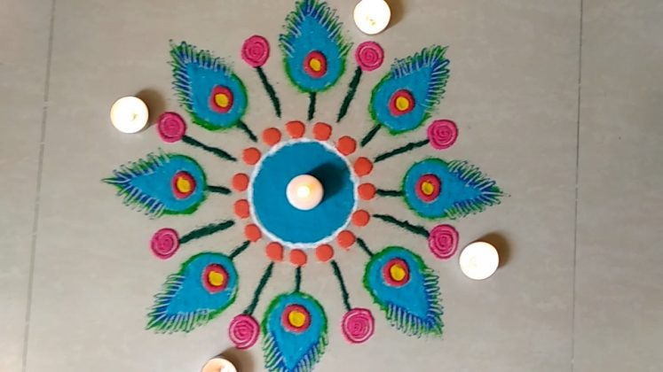 Simple New Year Rangoli Design