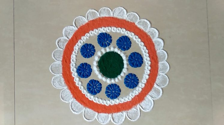 Independence day Rangoli Designs | Republic day Muggulu