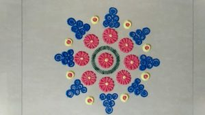Easy and Quick Rangoli Sankranti for Beginners Pongal Kolam or Muggu