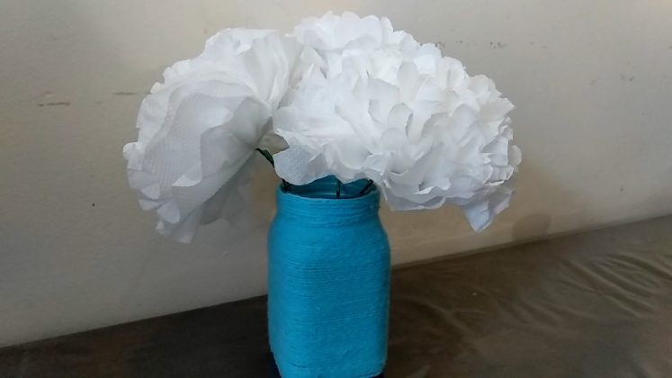 Best out of Waste craft idea using bottle paper flower