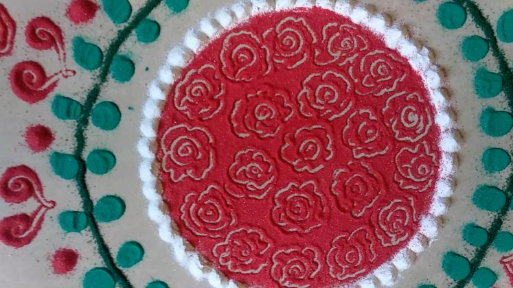 VALENTINE'S DAY SPECIAL UNIQUE RANGOLI DESIGNS