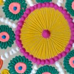 simple rangoli designs with colours and flowers