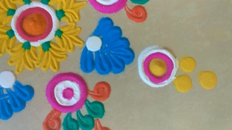 simple rangoli designs with colours kolam muggulu