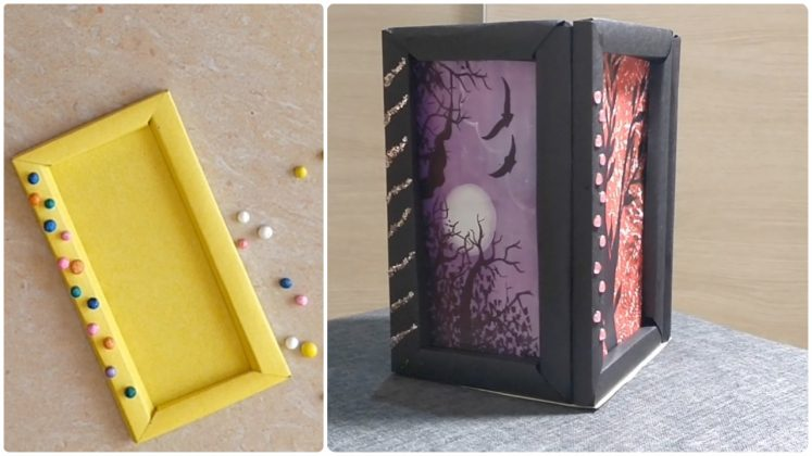 Photo Frame Making with Paper [DIY] Photo Lantern