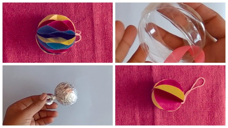 Easy Christmas Decorations Paper Ball [DIY]