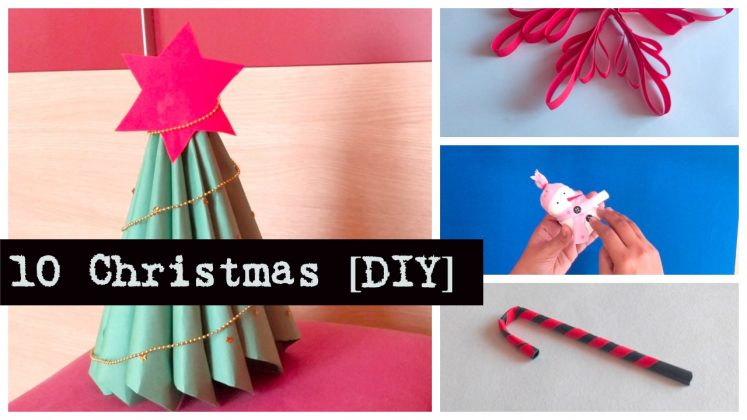10 Easy DIY Christmas Decoration Ideas - Crafts using paper
