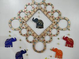 Wall Hanging with Cardboard | Best out of waste | Elephant wall decor
