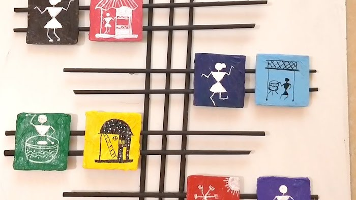 warli art wall hanging | best out of waste