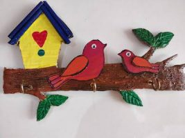 How to make Key holder with bird | Mother's day craft | Key holder ideas