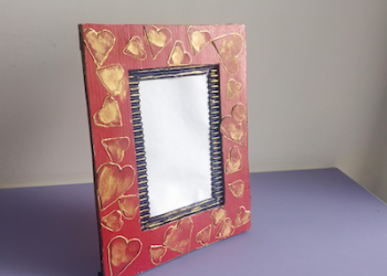 Photoframe making at Home with Cardboard | Latest picture frame DIY