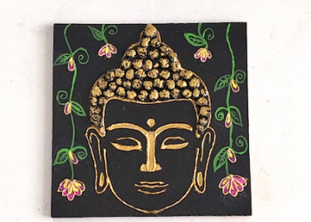 Buddha craft Ideas | DIY | Aluminium foil craft | Thread art
