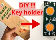 Creative idea of incense stick box craft  | DIY Cardboard box Key holder | best out of waste easy