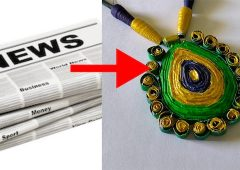Paper Jewellery Making | Jewellery making with old Newspaper