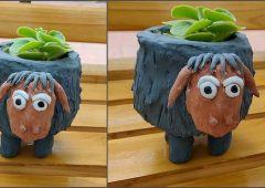 DIY Planter | Sheep Planter | Plaster of paris craft | Plastic bottle