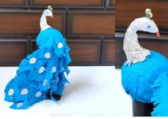 Easy Peacock Craft using Paper | Best out of waste | How to make