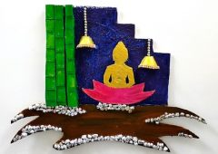 Best out of waste | Cardboard Craft Wall Hanging | Buddha Wall Decor