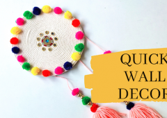 Quick Wall Decor | Diwali decoration idea | DIY Room Decor