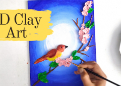 3d Clay art on canvas | Wall Decor | Mural art painting